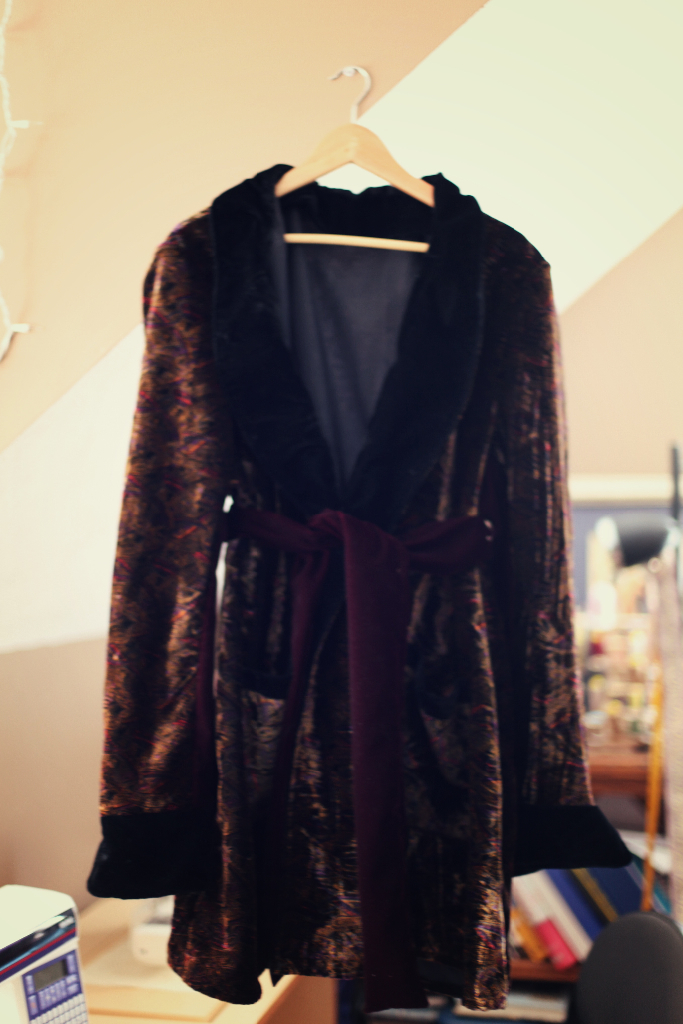 velvet smoking jacket john