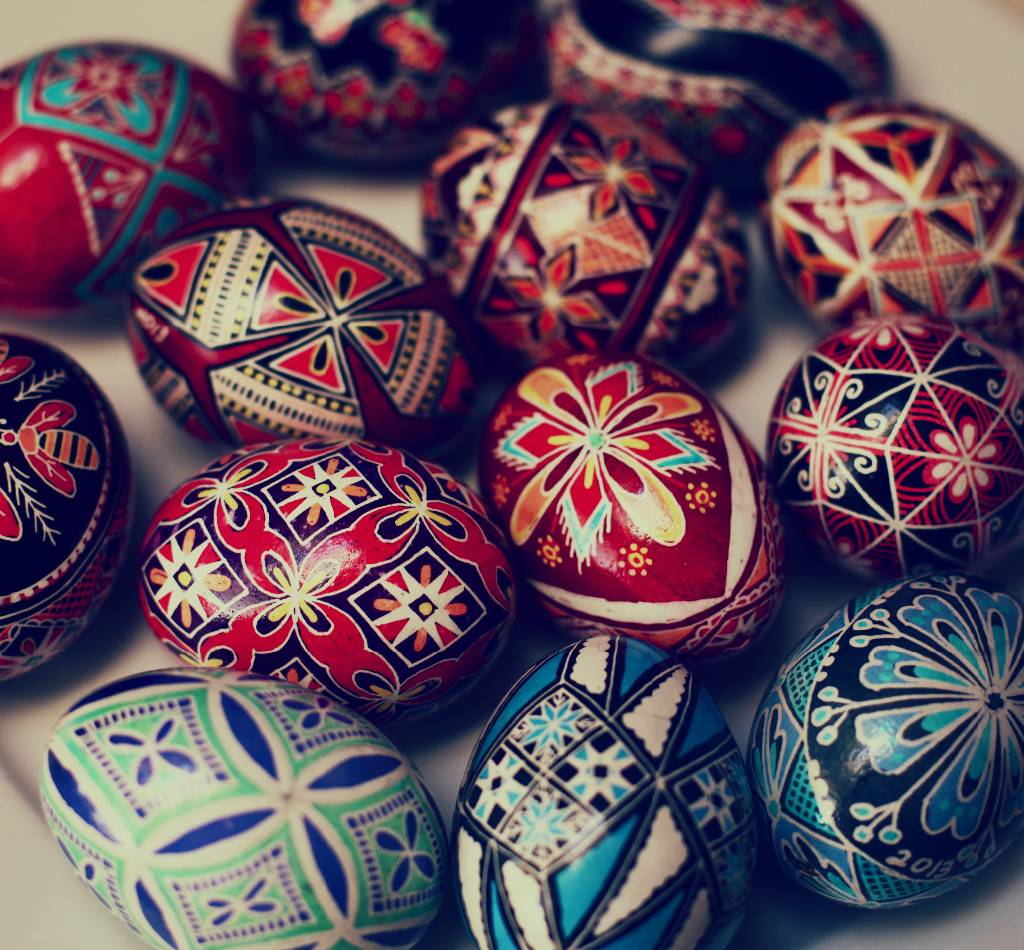 colorful ukrainian Easter Eggs pysanky marusya marusya