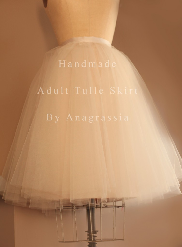 Champagne Ivory Tulle Satin Adult Bridesmaid Bridal Skirt for Wedding