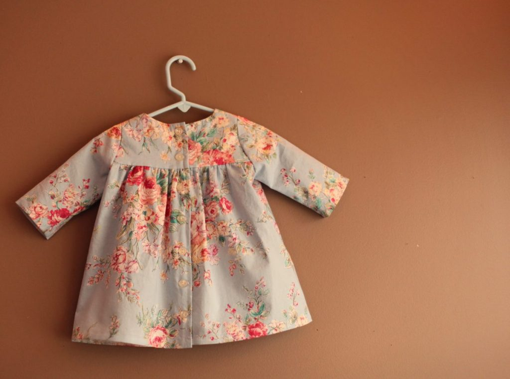 burdastyle 147 09 2013 Dress Red Blue Floral Cotton Dress Girls Summer Spring button down