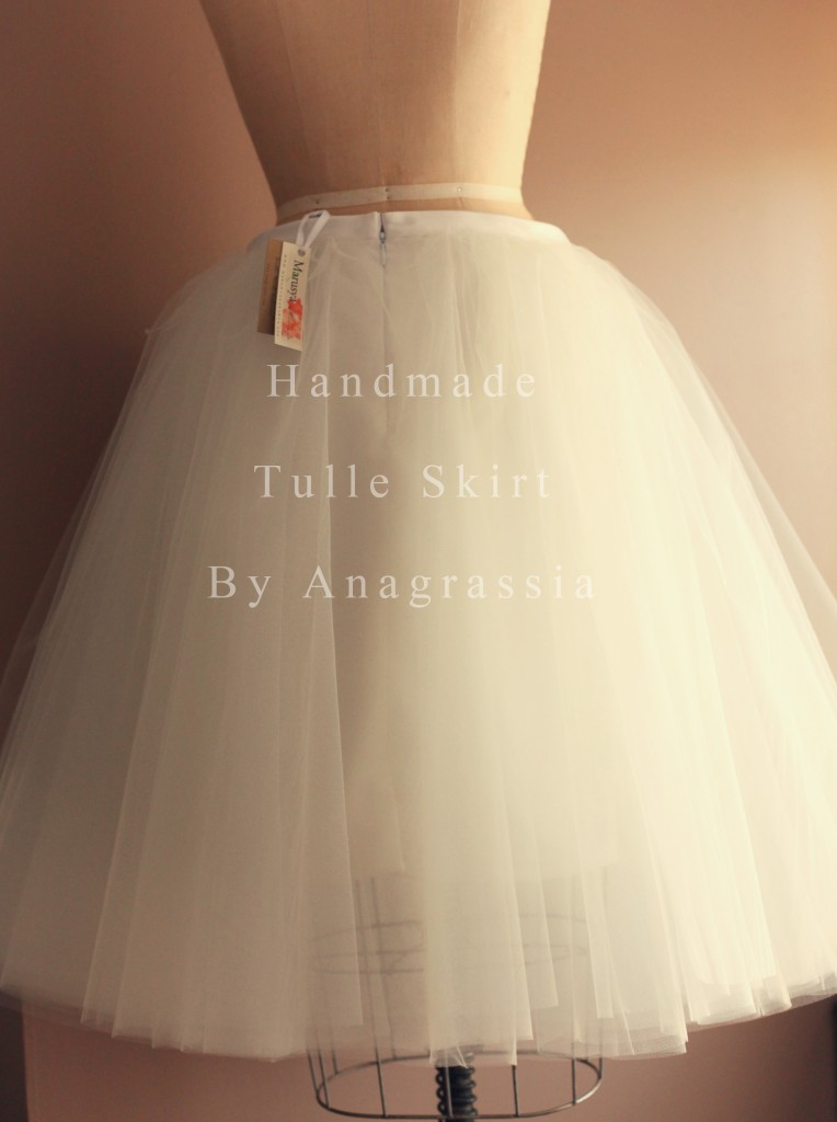 Adult Tulle skirt long ivory