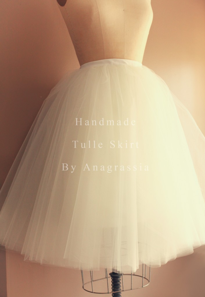 Adult Ivory white satin tulle skirt for bridal wedding