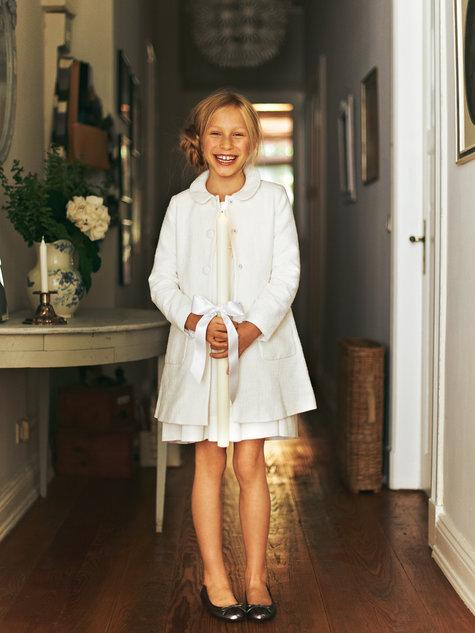 burdastyle 02/2012 #140 Long Dress Coat for Girls