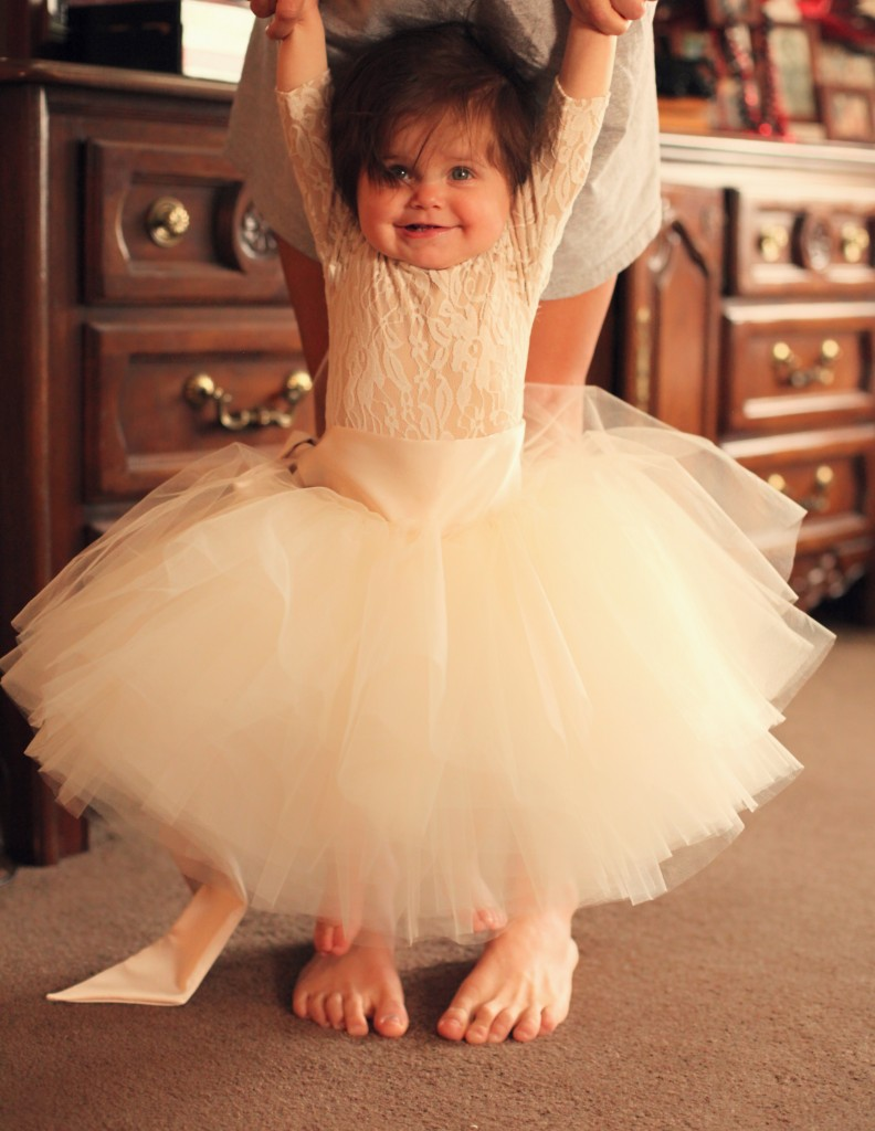 ivory nude Chantilly lace leotard onesie flower girl dress