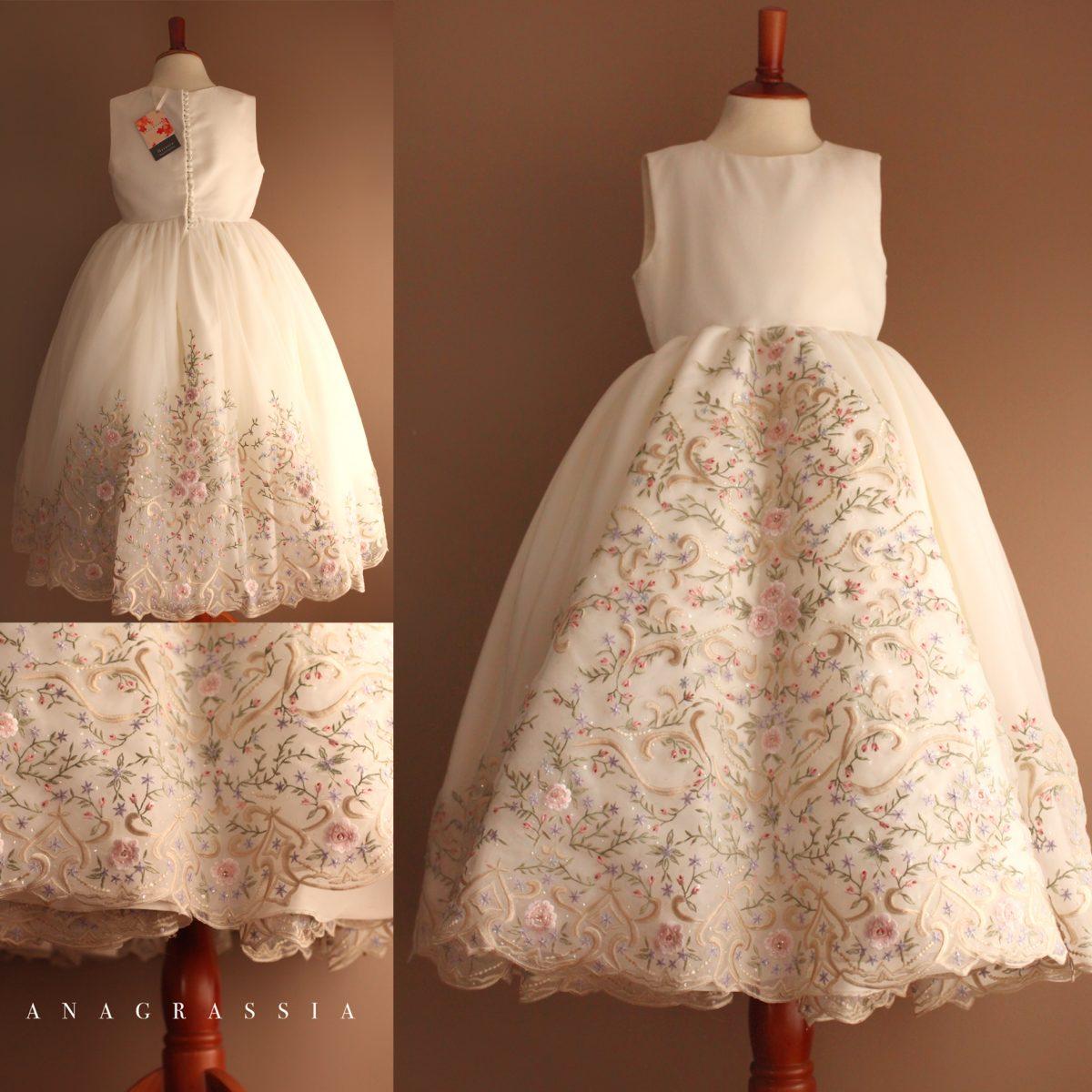 White Communion Dress Mother Wedding Gown   Marusya Marusya